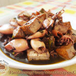 Adobong Pusit at Tokwa (Squid Adobo with Tofu)