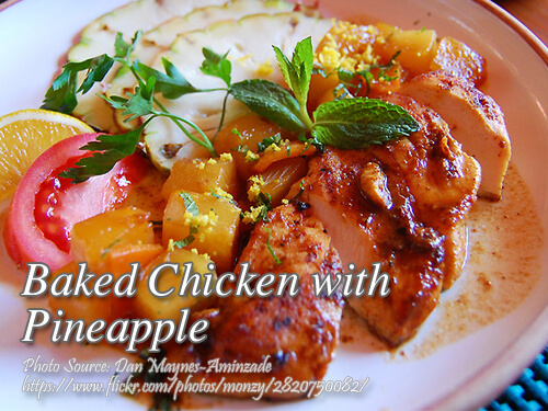 Baked Chicken with Pineapple