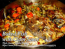 Baked Fish with Clam Sauce