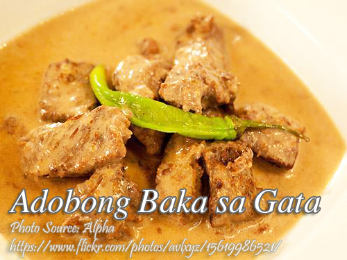 Beef Adobo with Coconut Milk (Adobong Baka sa Gata ...