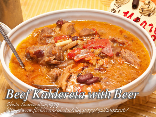 Beef Caldereta with Beer