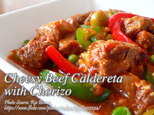 Beef Caldereta with Chorizo