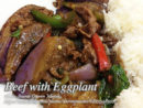 Beef Strips with Eggplant
