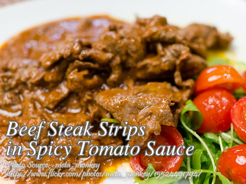Beef Strips in Spicy Tomato Sauce
