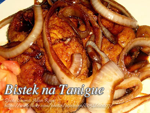 Spanish Mackerel Steaks in Soy Sauce (Bistek na Tanigue)