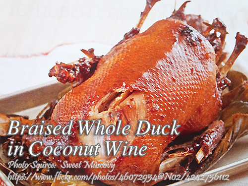 Braised Whole Duck in Coconut Wine