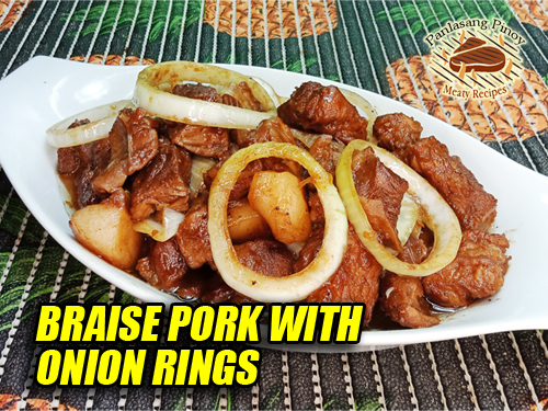 Braised Pork with Onions Pin It!