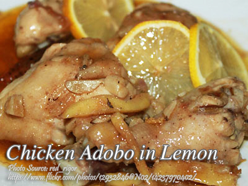 Chicken Adobo with Lemon