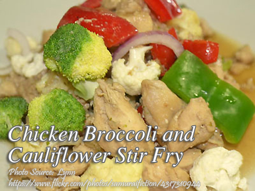Chicken Broccoli and Cauliflower Stir Fry