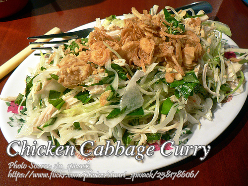 Chicken Cabbage Curry