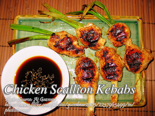 Chicken Scallion Kebabs
