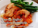 Chorizo Stuffed Chicken Drumsticks