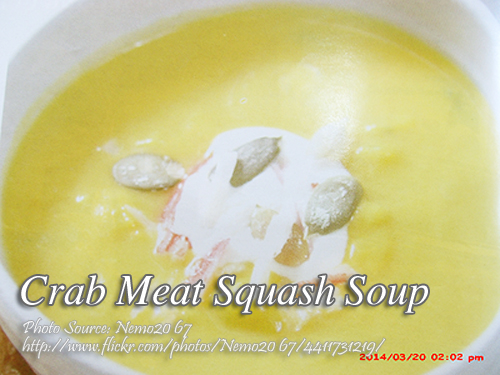 Crab Meat Squash Soup