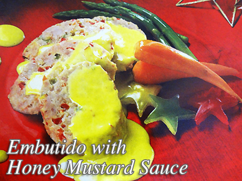 Embutido with Honey Mustard Sauce