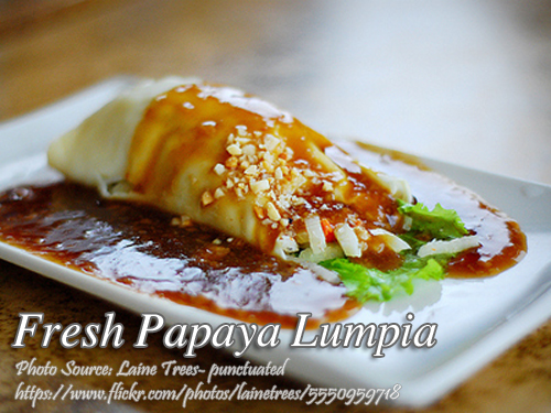 Fresh Papaya Lumpia