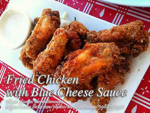 Fried Chicken with Blue Cheese Sauce