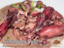 Ginataang Pusit (Squid in Coconut Milk)