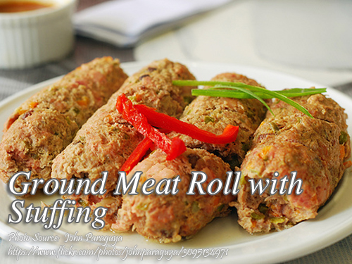 Ground Meat Roll with Stuffing