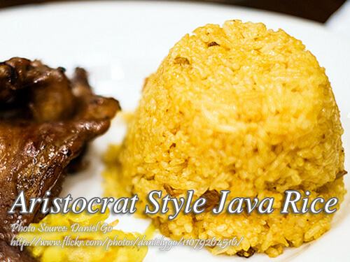 Aristocrat Style Java Rice