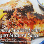 Canned Mackerel with Yogurt Mustard Sauce