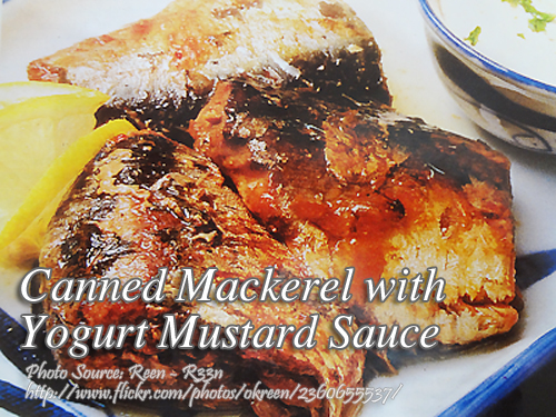 Mackerel with Yogurt Mustard Sauce