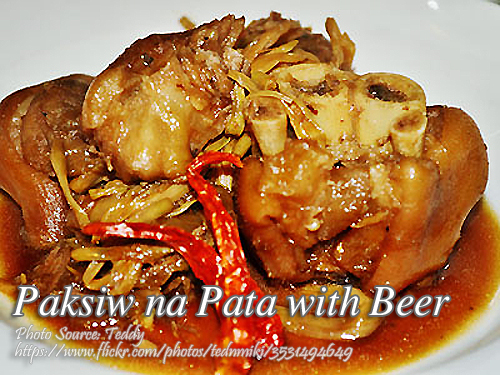 Paksiw na Pata with Beer
