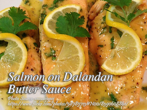 Salmon on Dalandan Butter Sauce