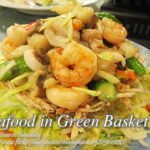 Seafood in Green Basket