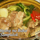 Sinigang na Baka sa Sampalok (Beef in Tamarind Broth)