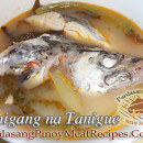 Sinigang na Tanigue sa Sampalok (Spanish Mackerel in Tamarind Broth)