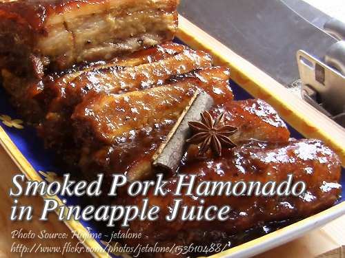 Smoked Pork Hamonado in pineapple juice