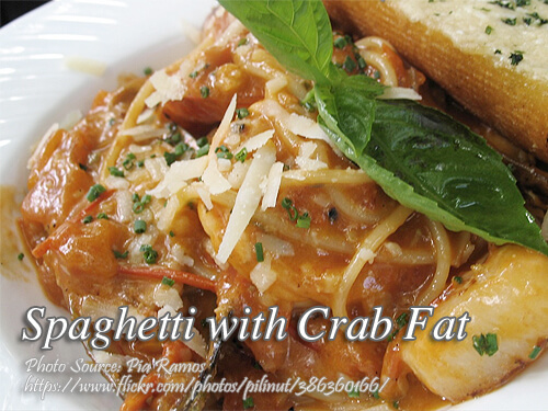 Spaghetti with Crab Fat