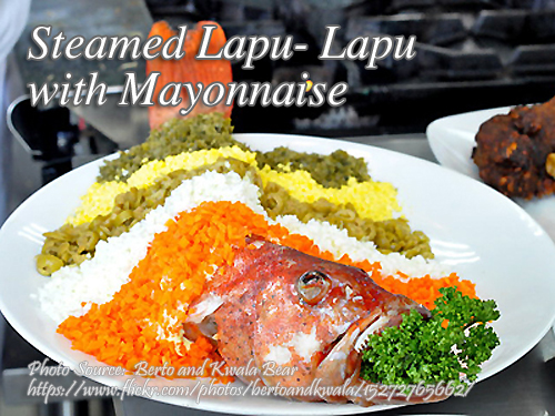 Steamed Lapu-Lapu with Mayo
