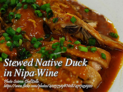 Stewed Native Duck in Nipa Wine