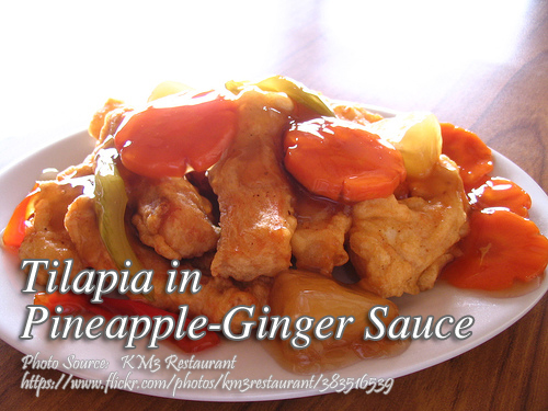 Tilapia with Pineapple Ginger Sauce